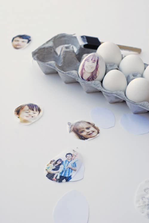 Photo Print Easter Eggs - 80 Creative and Fun Easter Egg Decorating and Craft Ideas