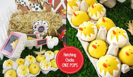 Hatching Chicks Cake Pops - 100 Easy and Delicious Easter Treats and Desserts