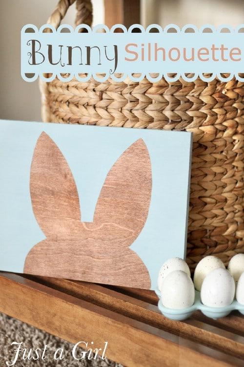 Easter Bunny Silhouette - 80 Fabulous Easter Decorations You Can Make Yourself
