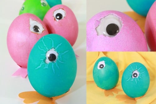 Googly Eye Easter Eggs - 80 Creative and Fun Easter Egg Decorating and Craft Ideas