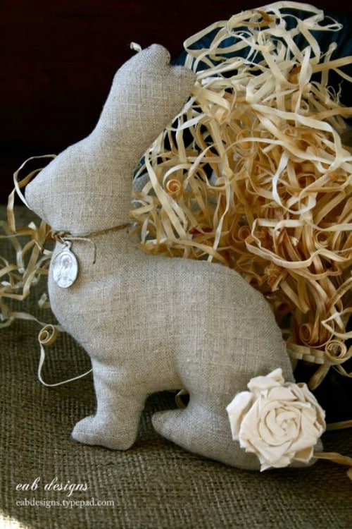 Linen Bunnies - 80 Fabulous Easter Decorations You Can Make Yourself
