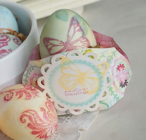Stamped Easter Eggs - 80 Creative and Fun Easter Egg Decorating and Craft Ideas