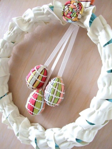 elegant fabric wreath 40 creative diy easter wreath ideas to beautify your home