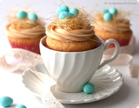 Caramel Bird's Nest Cupcakes - 100 Easy and Delicious Easter Treats and Desserts
