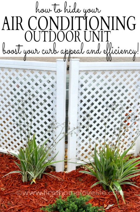 Cover Air Conditioning Unit - 150 Remarkable Projects and Ideas to Improve Your Home's Curb Appeal