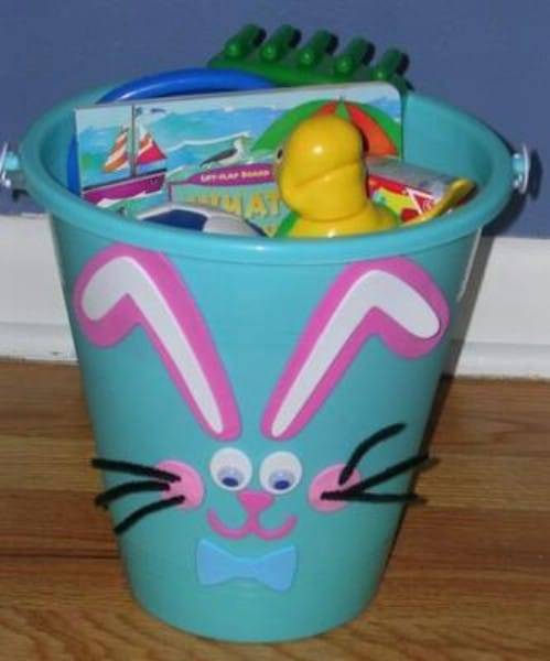 25 cute and creative homemade easter basket ideas page 2 of 5 bunny pail easter baskets negle Gallery