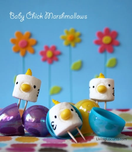 Marshmallow Baby Chicks - 100 Easy and Delicious Easter Treats and Desserts