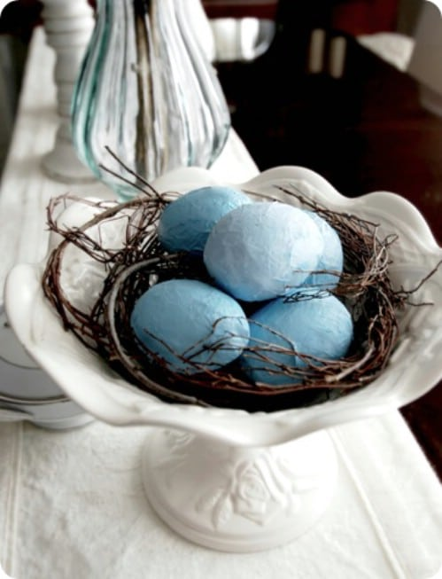 Paper Mache Easter Eggs - 80 Fabulous Easter Decorations You Can Make Yourself