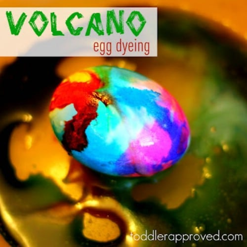 Volcano Dyed Easter Eggs - 80 Creative and Fun Easter Egg Decorating and Craft Ideas