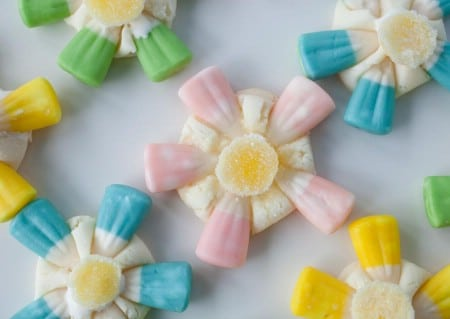 Candy Corn Flowers - 100 Easy and Delicious Easter Treats and Desserts