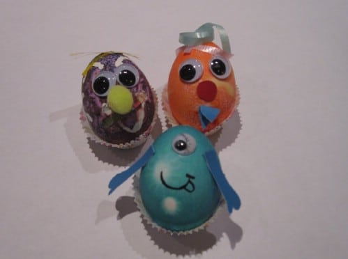 Hot Glue Resistant Easter Eggs - 80 Creative and Fun Easter Egg Decorating and Craft Ideas