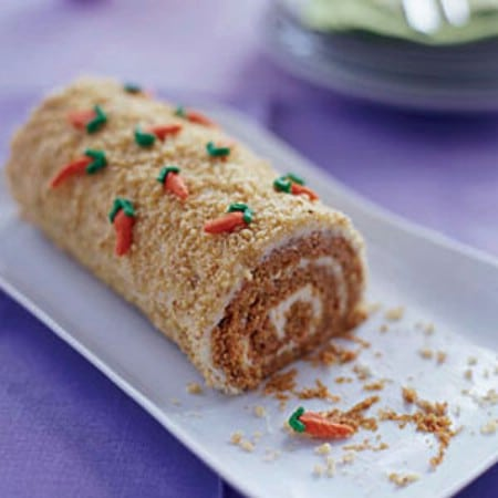 Carrot Patch Cake Roll - 100 Easy and Delicious Easter Treats and Desserts