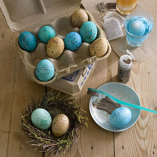Speckled Easter Eggs - 80 Creative and Fun Easter Egg Decorating and Craft Ideas