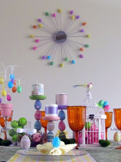 Easter Egg Candle Holders - 80 Fabulous Easter Decorations You Can Make Yourself