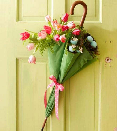 Lovely Door Decoration - 80 Fabulous Easter Decorations You Can Make Yourself