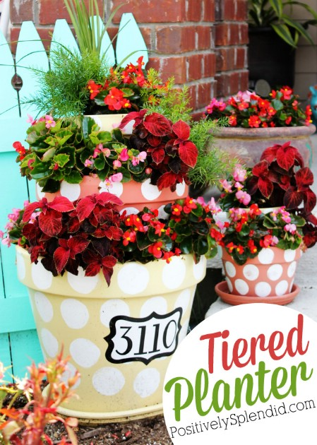 Create Tiered Planters - 150 Remarkable Projects and Ideas to Improve Your Home's Curb Appeal