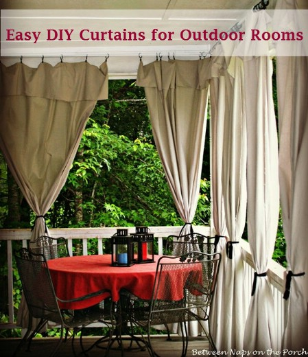 Add Outdoor Drapes - 150 Remarkable Projects and Ideas to Improve Your Home's Curb Appeal