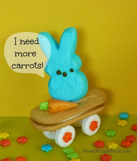 Skateboarding Marshmallow Peeps - 100 Easy and Delicious Easter Treats and Desserts