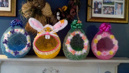 Balloon Easter Baskets