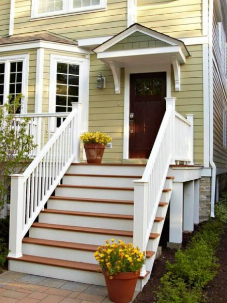 Add Contrasting Step Colors - 150 Remarkable Projects and Ideas to Improve Your Home's Curb Appeal