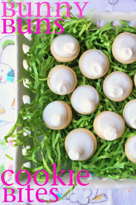 Bunny Bun Cookie Bites - 100 Easy and Delicious Easter Treats and Desserts