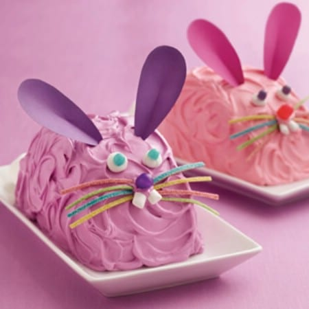 Easy Easter Bunny Cakes - 100 Easy and Delicious Easter Treats and Desserts
