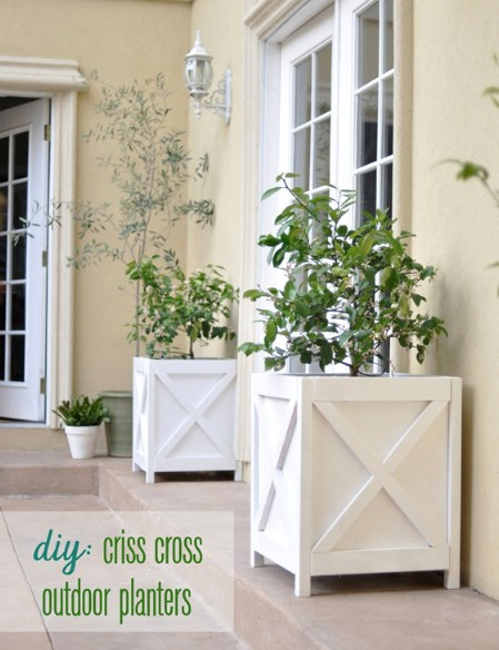 Build Rustic Criss-Cross Planters - 150 Remarkable Projects and Ideas to Improve Your Home's Curb Appeal