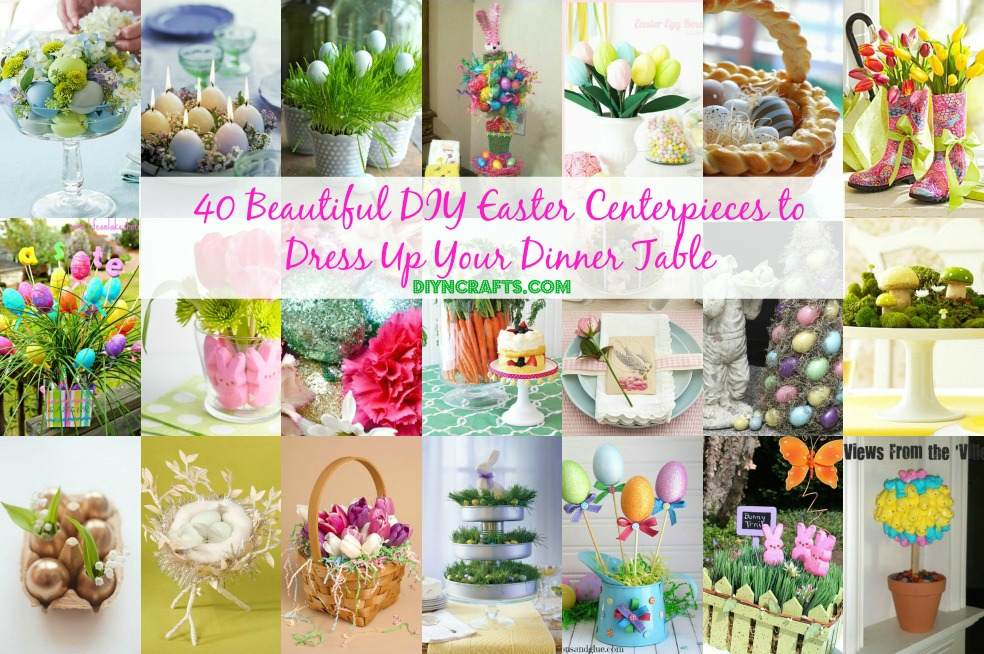 facebook 40 beautiful diy easter centerpieces to dress up your dinner table - Easter Centerpieces
