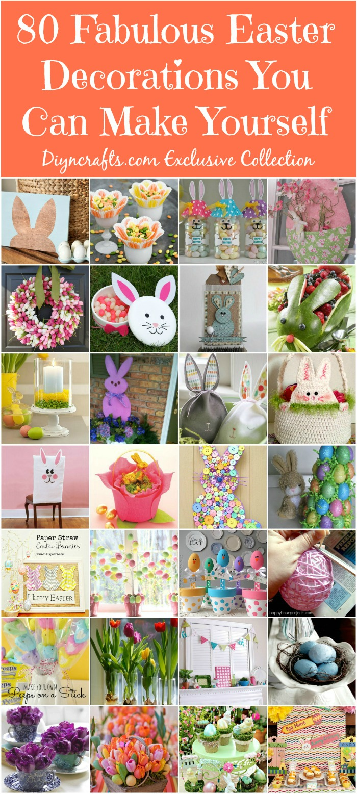 80 Fabulous Easter Decorations You Can Make Yourself DIY