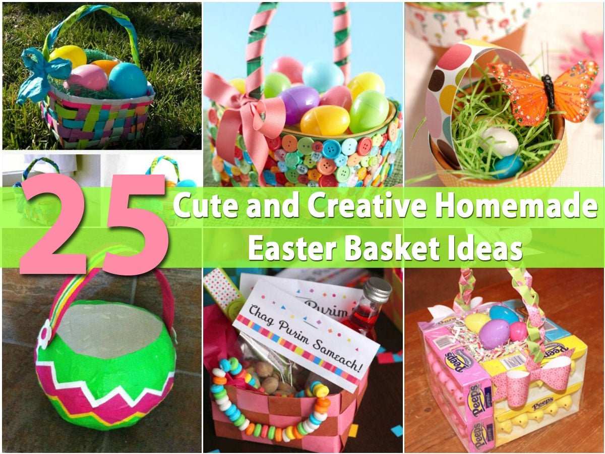 25 cute and creative homemade easter basket ideas diy crafts negle Choice Image