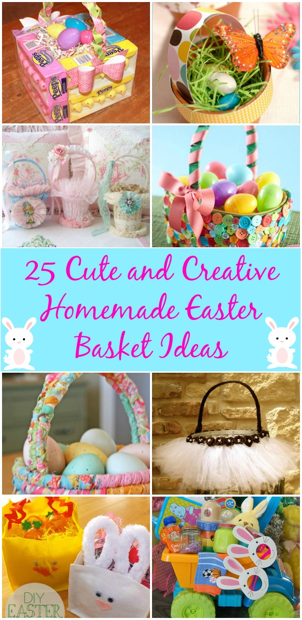 25 cute and creative homemade easter basket ideas diy crafts 25 cute and creative homemade easter basket ideas negle Images