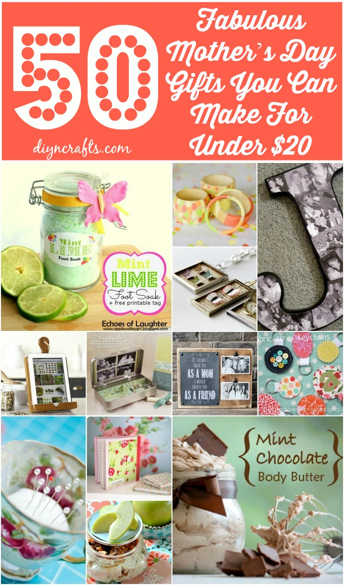 50 fabulous mother s day gifts you can make for under 20 Mothers day presents diy