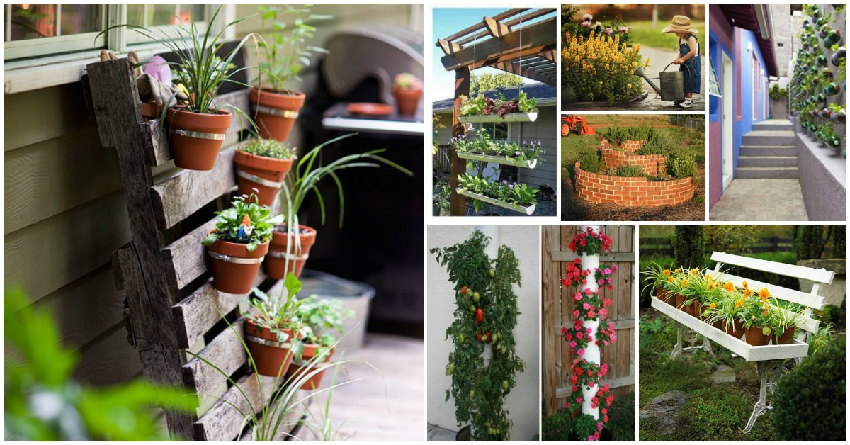 40 genius space savvy small garden ideas and solutions diy crafts - Garden Ideas In Small Spaces
