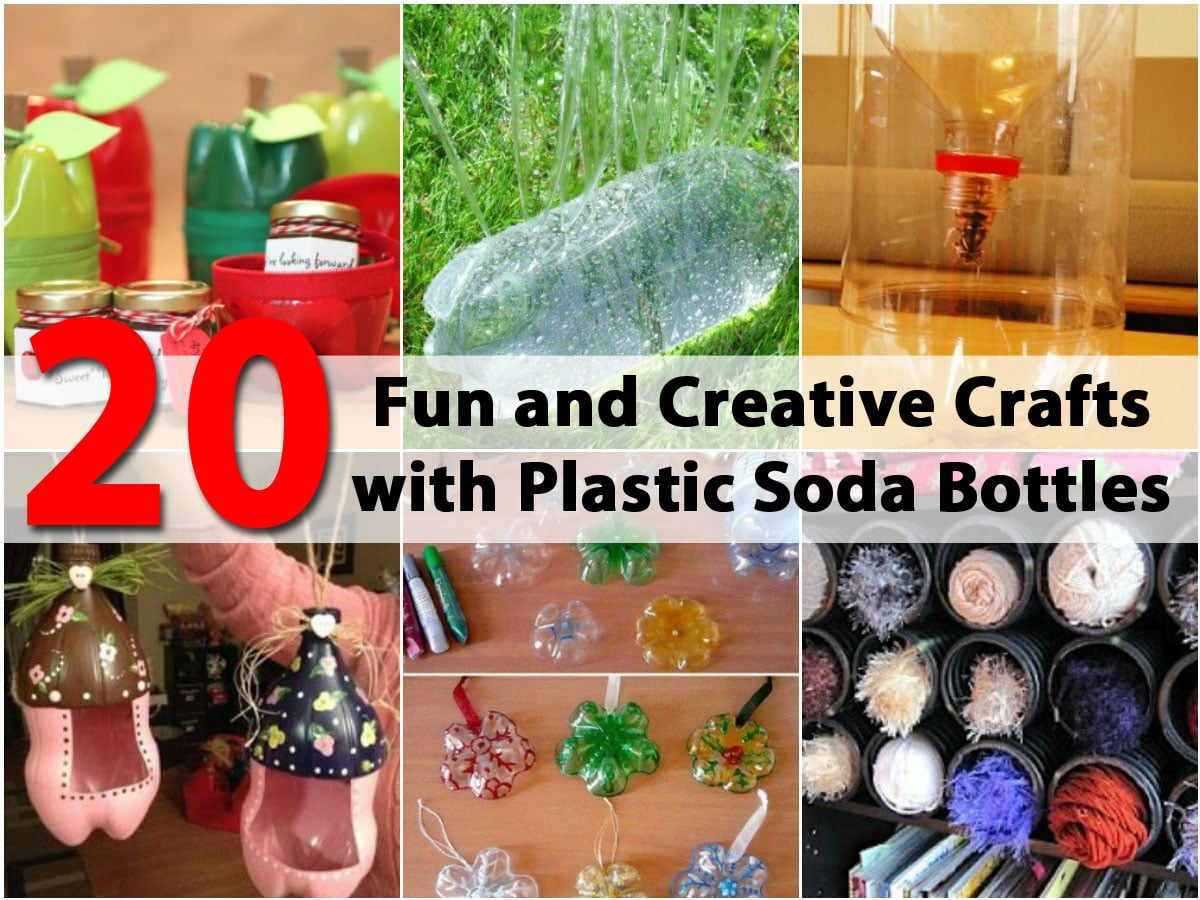 20 fun and creative crafts with plastic soda bottles diy for Things to do with plastic bottles