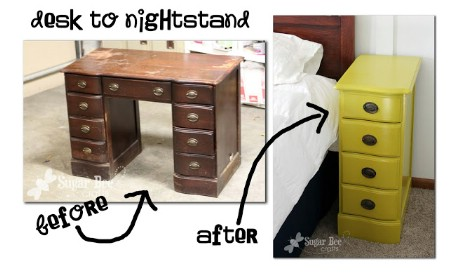 Create Nightstands From a Broken Desk
