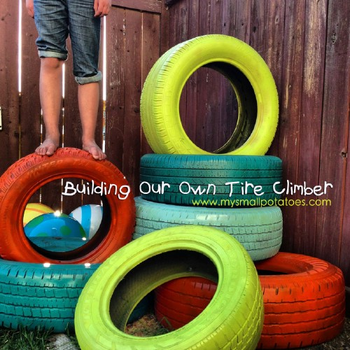 20 genius ways to repurpose old tires into something new and diy instructions and project credit mysmallpotatoes a tire climber solutioingenieria
