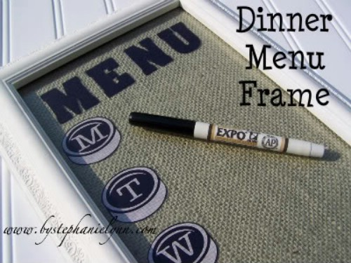 Erasable Dinner Menu