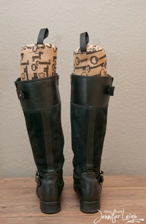 Burlap Boot Stuffers