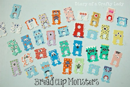 Make Monsters From Bread Clips