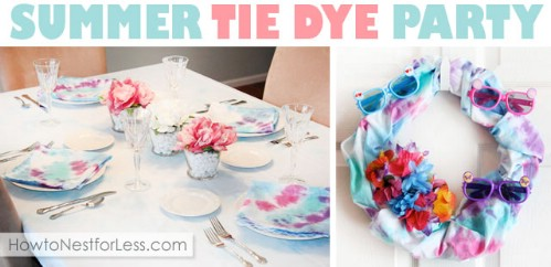 Tie Dyed Wreath