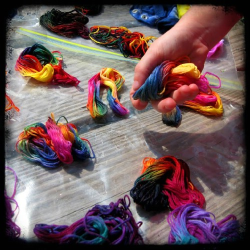Tie Dye Embroidery Thread
