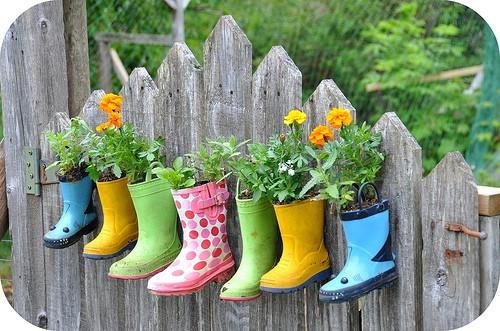 Boot Planter Garden
