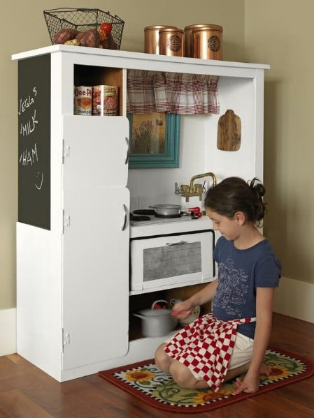 Create A Play Kitchen From Broken Entertainment Center
