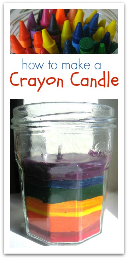 Turn Broken Crayons and Empty Jars Into Colorful Candles