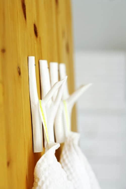 Branch Hooks - 15 Unusual and Creative Repurposed Wall Hooks