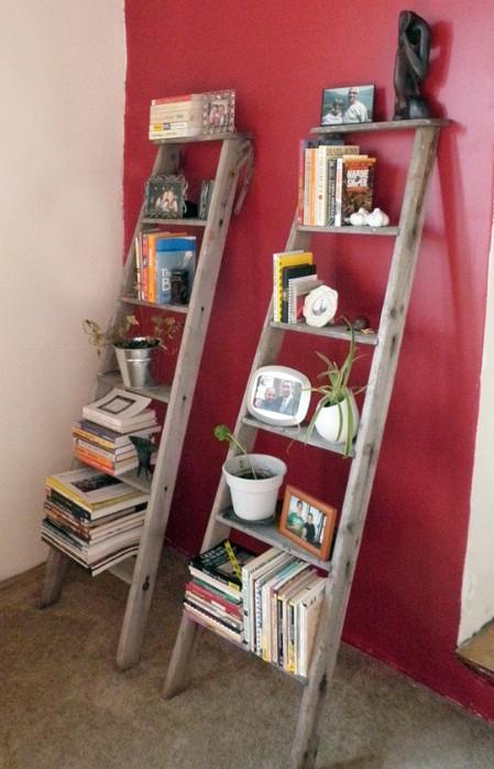 Turn Broken Ladders Into Bookshelves