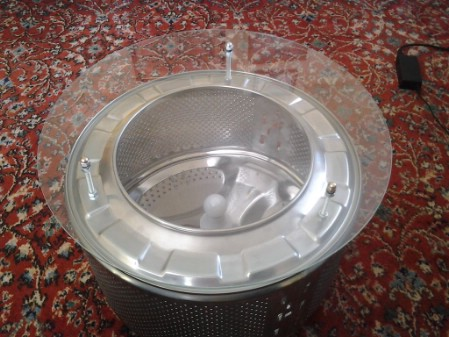 Turn A Broken Washing Machine Drum Into A Coffee Table