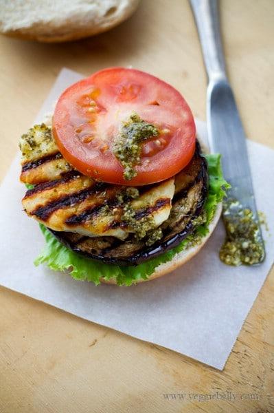Grilled Eggplant Burgers