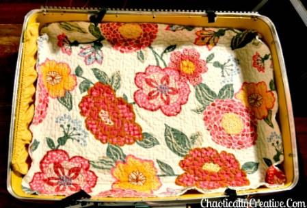 Turn Broken Vintage Suitcases Into Pet Beds