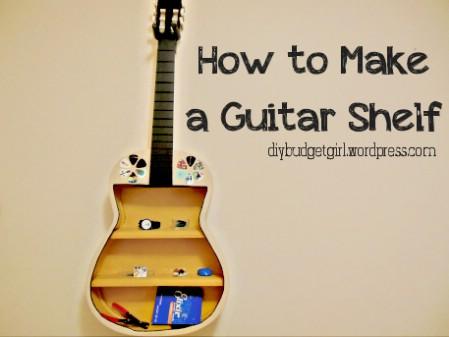 Make A Shelf From That Broken Guitar